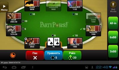 Partypoker мобильный покер